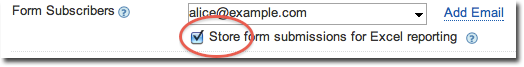 Store form responses in database