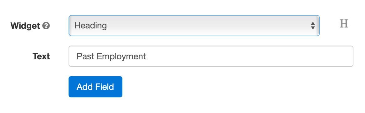 Add headings to a digital form