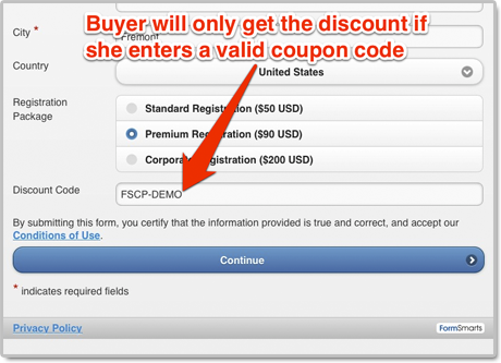 Buyer enters coupon code to get the discount on PayPal checkout page