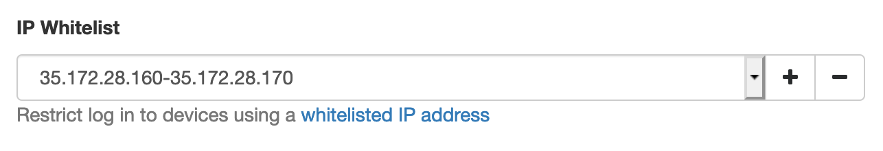 Using an IP address Allow list to enhance form security