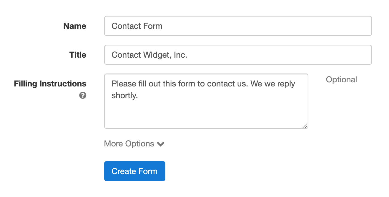 Create a form with FormSmarts Form Builder: the Forms tab