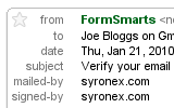 Form to Email: Gmail Mailed-by and Signed-by FormSmarts