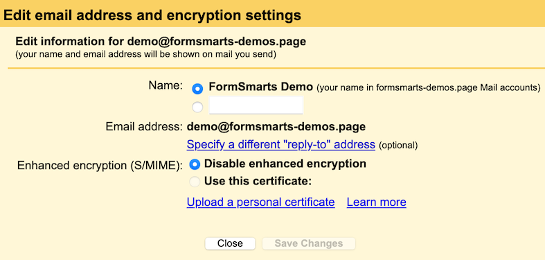 Upload a S/MIME certificate to Gmail