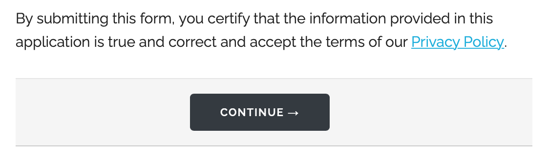 Online form with a Text Block