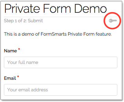 Private Form