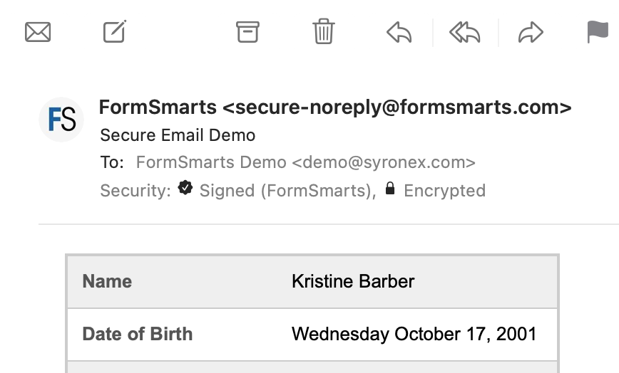 Secure encrypted email (S/MIME)